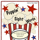 Poppin' Sight Words - Popcorn Themed Dolch Word Activities
