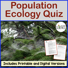 Population Ecology Quiz or Homework Review Worksheet