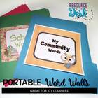 Portable Themed Word Walls  for Early Literacy