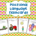 Positional Language Flashcards for Kindergarten (Reception)