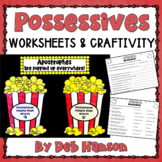 Possessive Nouns Craftivity: Apostrophes are Popping Up Ev
