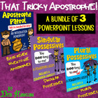 Possessives Powerpoint BUNDLE- contains THREE PPTs and two