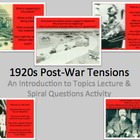 Post WWI Tensions PPt on Key Topics - KKK, Marcus Garvey,