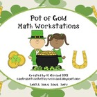Pot of Gold Math Workstation Activities