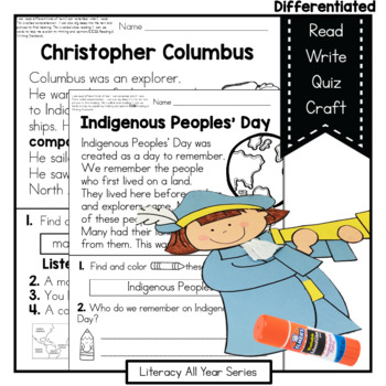 Power Passages {Christopher Columbus} Fluency, Writing, Ar