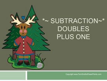 "PowerPoint, Math ""Doubles Plus One"" in Subtraction Concept"