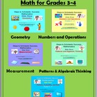 PowerPoint Slide Shows Bundle - Math for Grades 3-4
