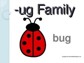 The -ug Word Family PowerPoint