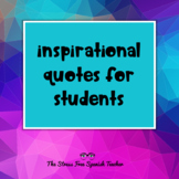 PowerPoint of Inspirational & Motivational Quotes for Students!