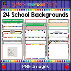 Powerpoint Backgrounds - 24 new School Themes