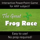 Interactive Powerpoint Game:  The Great Frog Race -- ANY subject