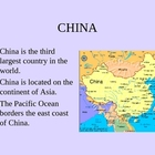 Powerpoint about China