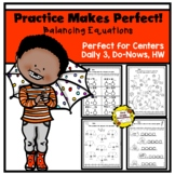 Practice Makes Perfect: Balancing Equations Worksheets
