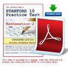 Stanford 10 Practice Test Packet in Mathematics-2 (With Preview)