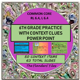 Practice of Context Clues 6th Grade Level Word Study Commo