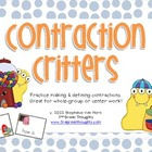 Practicing Contractions: Contraction Critters