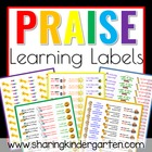 Praise Learning Labels (Word Doc)