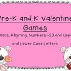 Pre-K and K Valentine Games