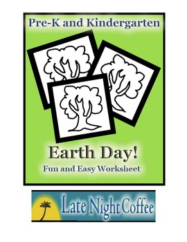 Pre-K and Kindergarten: Earth Day Worksheet