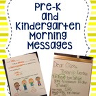 Pre-K and Kindergarten Morning Messages