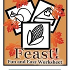 Pre-K and Kindergarten Thanksgiving Feast Worksheet