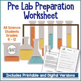 Pre-Lab Worksheet for any Science Lab