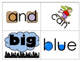 Pre-Primer Sight Word Flash Cards with picture cues