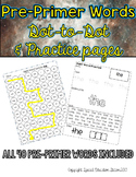 Pre-Primer Sight Word Practice Sheets: Dot to Dot and Stam