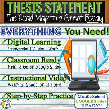 thesis statement activities middle school Students will be able to develop a thesis statement and two paragraphs which support that home street middle school seda debate games and activities guide.
