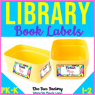 PreK-K Library Book Labels