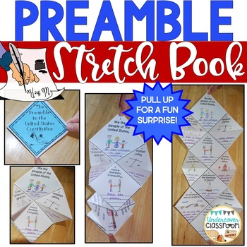 Preamble Stretch Book: Constitution Day Activity