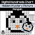 Precious Penguin Hundreds Chart Hidden Picture Activity fo