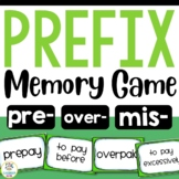 Prefix Memory Match-Up Game with Recording Sheet (pre, over, mis)