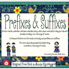 Prefix & Suffix Anchor Charts and Activities
