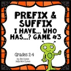 Prefix and Suffix Game #3 Common prefixes & suffixes