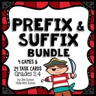 Prefix and Suffix Collection Games, Task Cards and Scoot,