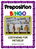 Preposition BINGO {Prepositions and Listening for Details}