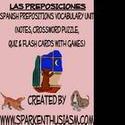 Prepositions Vocabulary, Activities, Crossword, Games, & Q
