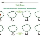 Prepositions of Location:  Fruit Trees