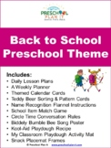 Preschool Back To School Theme Unit