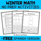 Preschool & Kindergarten Common Core Math Pack Bundle for Winter