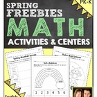 Preschool & Kindergarten Common Core Math FREEBIE - Spring