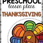 Preschool Lesson Plan- Thanksgiving
