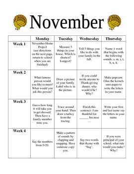 Calendar Homework for Preschool and Kindergarten   Homework     Free printable bingo card to help get your preschooler ready for  kindergarten