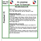 Preschool PE Lesson Plan
