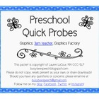 Preschool Quick Probes - Speech Therapy