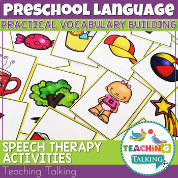 Preschool Speech Therapy Activities: Printable Materials -