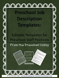 Preschool Staff Job Description Templates for Preschool Programs