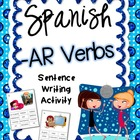 Present Tense -AR Verbs Spanish Sentence Writing Station A
