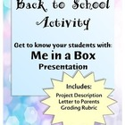 Presentation - Me in a Box - Directions & Rubric